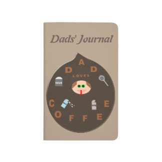 Funny Dad Monster Loves Coffee Custom Journal