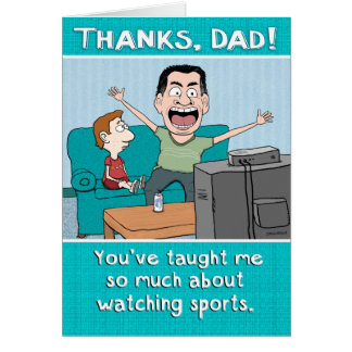 Funny Dad Sports Nut Father's Day Greeting Card