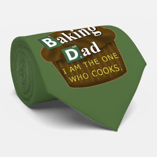 Funny Dad Who Bakes or Cooks Spoof Parody Father's Tie
