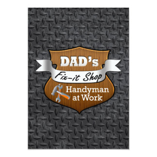 Funny Dad's Fix-it Shop Handy Man Father's Day Card