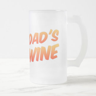 Funny Dad's Wine Stein Frosted Glass Mug