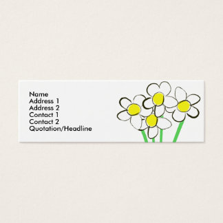 Funny daisy business card