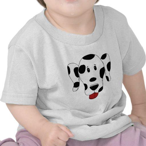 Funny dalmatian dog head tshirts