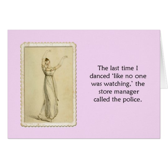Funny Dance Blank Inside Ackerman Card