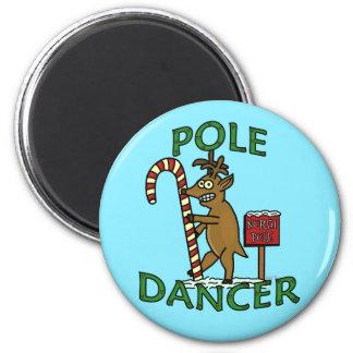 Funny Dancer Christmas Reindeer Pun 6 Cm Round Magnet