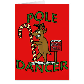 Funny Dancer Christmas Reindeer Pun Card