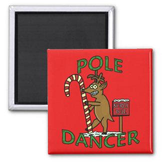 Funny Dancer Christmas Reindeer Pun Magnet