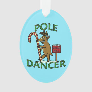 Funny Dancer Christmas Reindeer Pun Ornament
