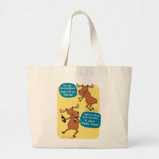 Funny Dancing Moose Tote Bag