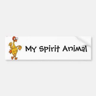 Funny Dancing Rubber Chicken Spirit Guide Bumper Sticker