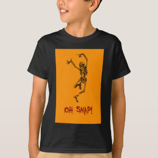 Funny Dancing Skeleton Oh Snap T-shirt