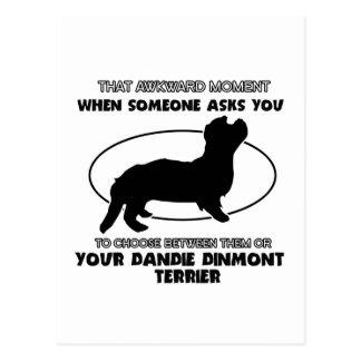 Funny DANDIE DINMONT TERRIER designs Postcard