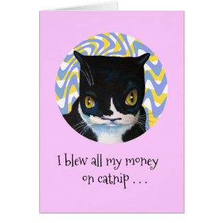 Funny Dang Cat Birthday Card