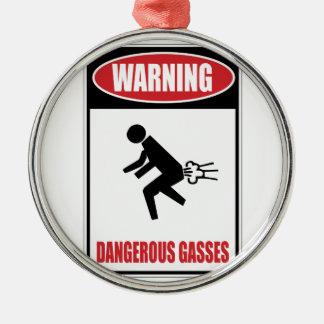 Funny Dangerous Gasses Christmas Ornaments