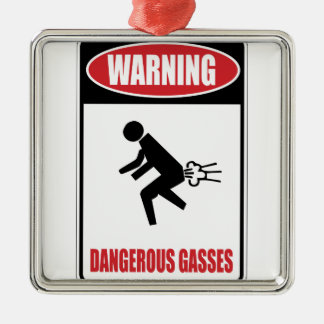 Funny Dangerous Gasses Christmas Tree Ornament