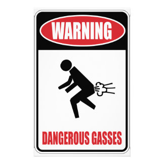 Funny Dangerous Gasses Personalised Stationery