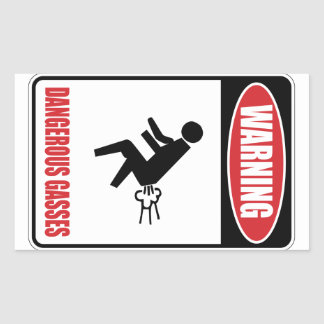 Funny Dangerous Gasses Rectangle Stickers