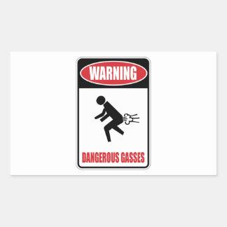 Funny Dangerous Gasses Rectangular Sticker