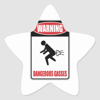 Funny Dangerous Gasses Star Stickers