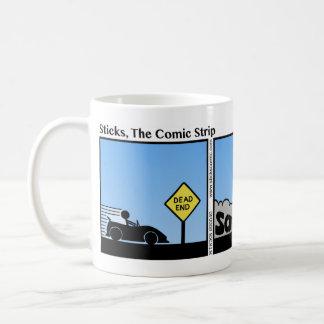 Funny Dead End Stickman Mug - 040 Basic White Mug