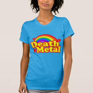 Funny Death Metal Rainbow (distressed look) T-Shirt