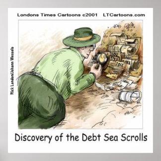 Funny Debt Sea Scrolls Poster