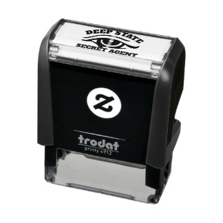 "Funny ""Deep State Secret Agent"" Self-inking Stamp"