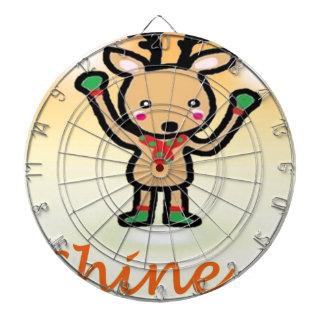 Funny deer cartoon Shine Bright quotes Dartboard