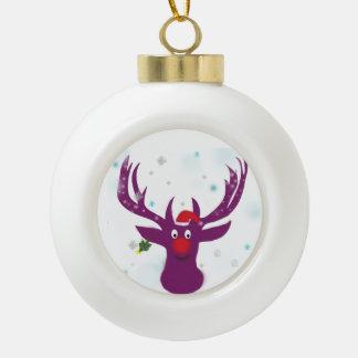 Funny Deer Ceramic Ball Decoration