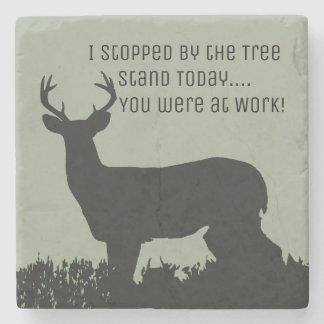 Funny Deer Hunting Bar Stone Coasters