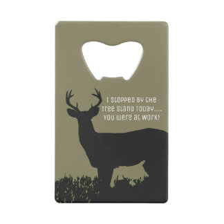 Funny Deer Hunting Tree Stand Bottle Opener