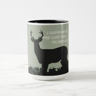 Funny Deer Hunting Tree Stand Mug