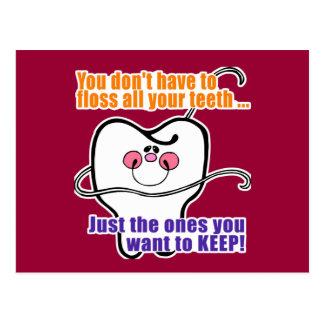 Funny Dental Hygienist Postcard