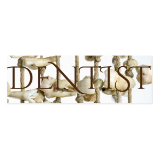 Funny Dental Photography Extracted Teeth Dentist Pack Of Skinny Business Cards