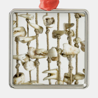 Funny Dental Photography Extracted Teeth Dentist Silver-Colored Square Decoration