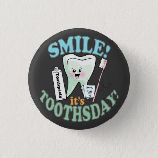 Funny Dentist Dental Hygienist 3 Cm Round Badge