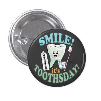 Funny Dentist Dental Hygienist Buttons
