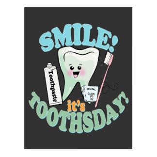 Funny Dentist Dental Hygienist Postcard