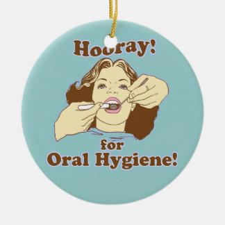 Funny Dentist Dental Hygienist RDH Ceramic Ornament