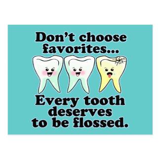 Funny Dentistry Postcard