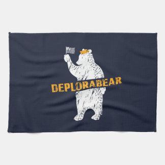 Funny Deplorabear Trump America Tea Towel