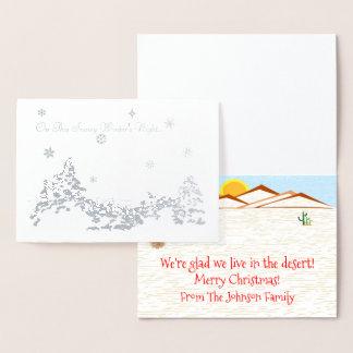 Funny Desert Christmas Foil Card
