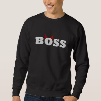 Funny Devil Boss with Horns Sweatshirt