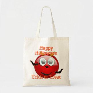 funny devil  cartoon  trick or  treat budget tote bag