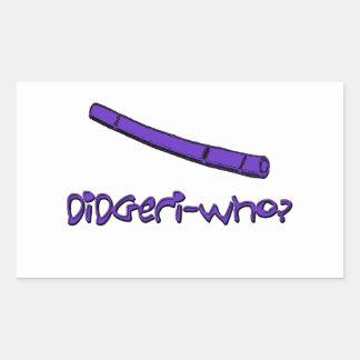 Funny didgeridoo rectangular sticker