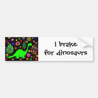 Funny Dinosaur Abstract Art Bumper Sticker