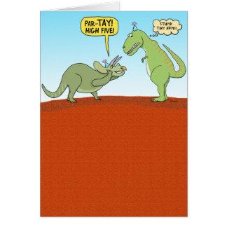 Funny Dinosaur Birthday Card