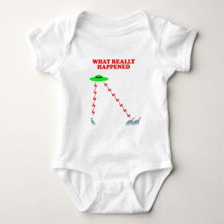 Funny Dinosaur extinction Baby Bodysuit