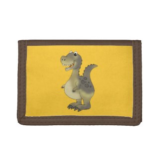 Funny dinosaur trifold wallets