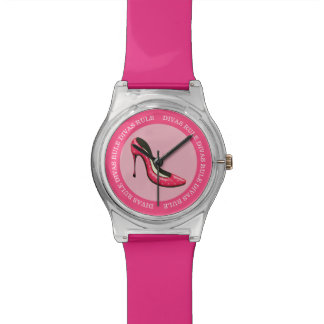 Funny Diva Pink Girly Design Watch
